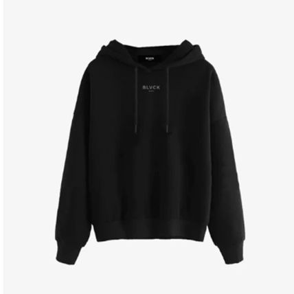 BLVCK PARIS Hoodies Star Unisex Street Style Long Sleeves Logo Hoodies