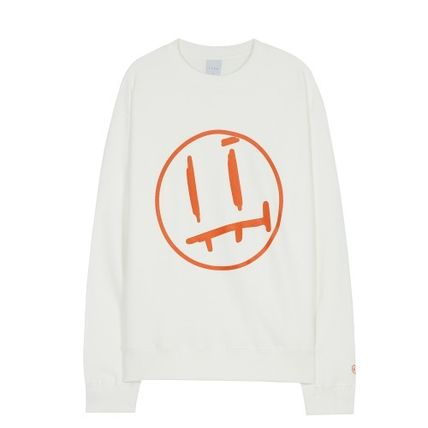 Logo Crew Neck Unisex Long Sleeves Cotton Street Style