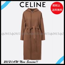 CELINE Casual Style Wool Cashmere Blended Fabrics Street Style