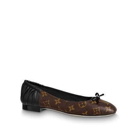 Louis Vuitton Monogram Leather Logo Ballet Shoes