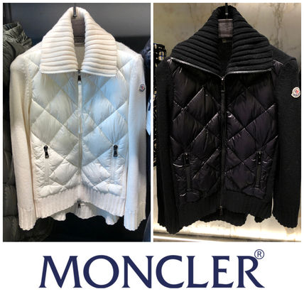 MONCLER Short Blended Fabrics Long Sleeves Plain