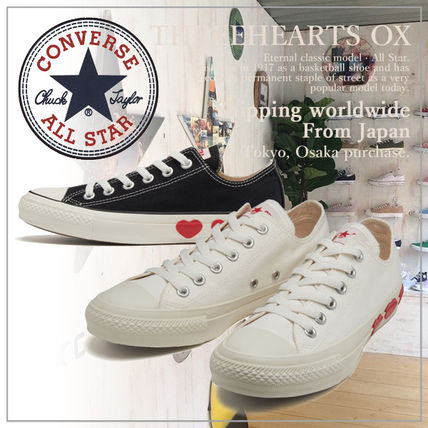 Heart Casual Style Unisex Plain Low-Top Sneakers