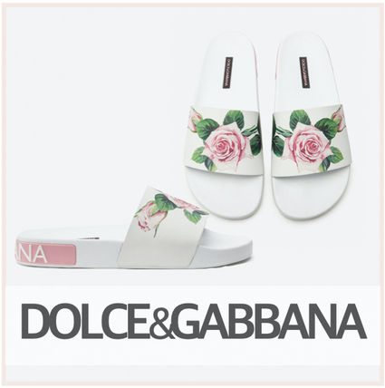 Dolce & Gabbana Flower Patterns Rubber Sole Casual Style Street Style