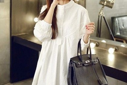 Oversized Front Button Maternity Wear