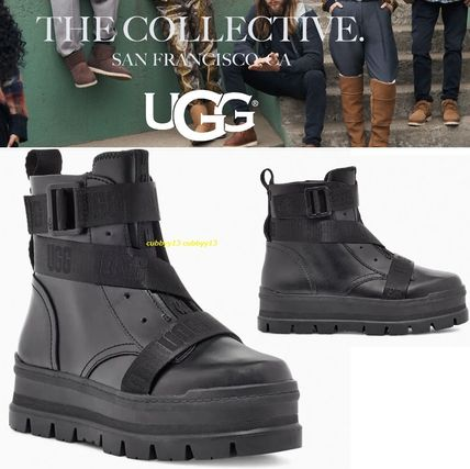 UGG Australia SID Rubber Sole Casual Style Studded Street Style Leather