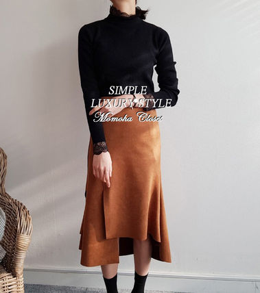 Suede Plain Skirts