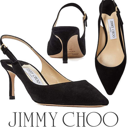 Jimmy Choo Casual Style Plain Pin Heels Party Style Office Style