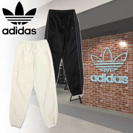 adidas Casual Style Corduroy Street Style Logo Pants