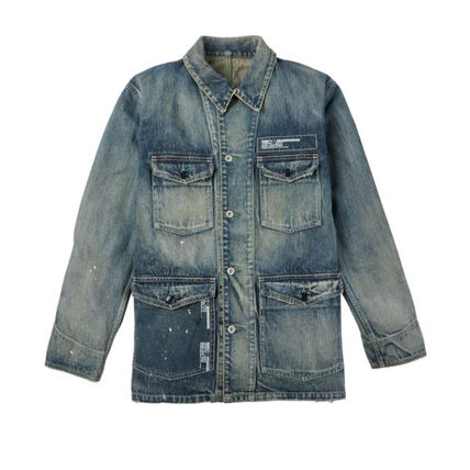 Denim Street Style Collaboration Plain Denim Jackets Jackets
