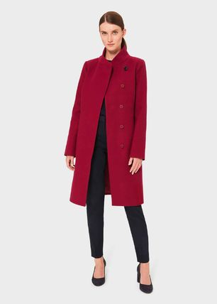 Hobbs London Wool Plain Coats