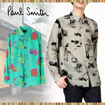 Paul Smith Long Sleeves Cotton Logo Shirts