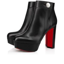 Christian Louboutin Casual Style Street Style Plain Leather Block Heels