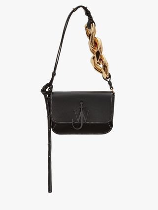 Casual Style Unisex Calfskin Suede Chain Party Style