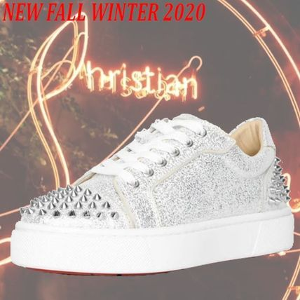 Christian Louboutin Rubber Sole Casual Style Blended Fabrics Street Style