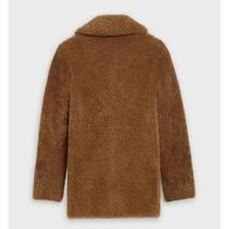 CELINE Caban Coat In Shearling