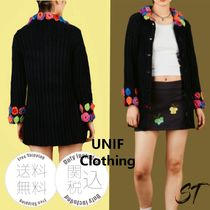 UNIF Clothing Flower Patterns Casual Style Street Style Long Sleeves Plain