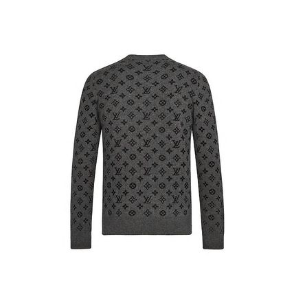 Louis Vuitton MONOGRAM Crew Neck Monogram Unisex Cashmere Long Sleeves Logo Luxury
