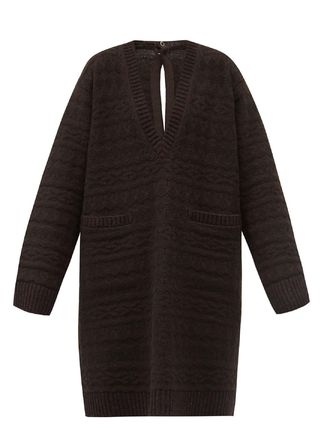 Pullovers Wool V-Neck Long Sleeves Plain Oversized Sweaters