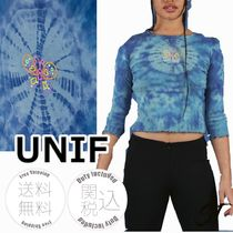 UNIF Clothing Blended Fabrics Street Style Tie-dye Cropped
