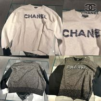 CHANEL Casual Style Blended Fabrics Long Sleeves Plain Medium