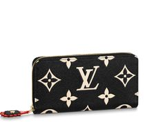 Louis Vuitton Monogram Unisex Leather Long Wallet  Logo Long Wallets