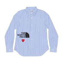 COMME des GARCONS Stripes Heart Unisex Street Style Long Sleeves Designers