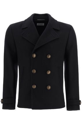 Saint Laurent Peacoats Coats