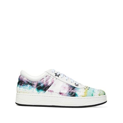 Jimmy Choo Star Platform Lace-up Casual Style Tie-dye Leather Logo