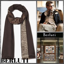 Berluti Cashmere Silk Logo Accessories