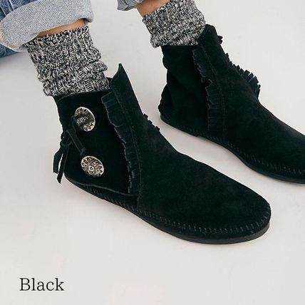 Casual Style Suede Street Style Boots Boots