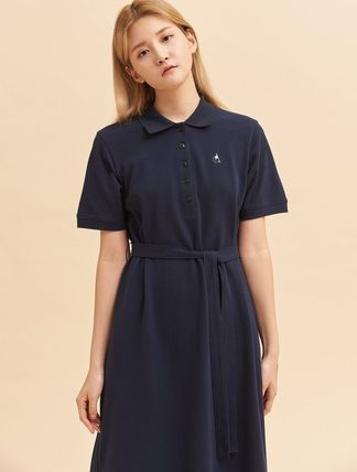 Casual Style Studded Street Style Plain Cotton Long