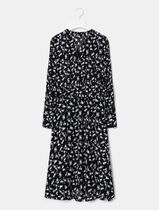 BEAN POLE Flower Patterns Casual Style Studded Henry Neck Street Style