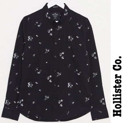 Hollister Co. Shirts Button-down Flower Patterns Unisex Street Style Long Sleeves
