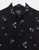 Hollister Co. Shirts Button-down Flower Patterns Unisex Street Style Long Sleeves 4