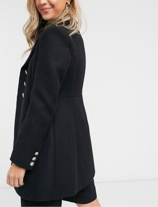 Casual Style Wool Plain Office Style Chester Coats