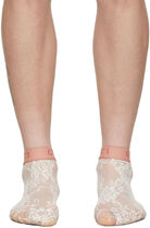 GUCCI Flower Patterns Bridal Logo Sheer Socks & Tights