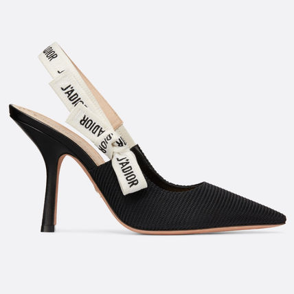 Christian Dior Logo Casual Style Plain Pin Heels Elegant Style