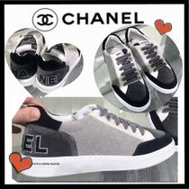 CHANEL SPORTS Unisex Velvet Bi-color Sneakers