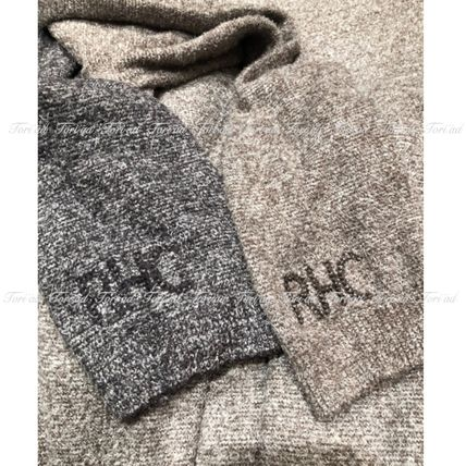 Crew Neck Pullovers Unisex Collaboration Long Sleeves Plain