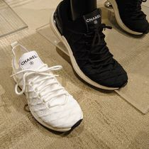 CHANEL Rubber Sole Casual Style Plain Low-Top Sneakers