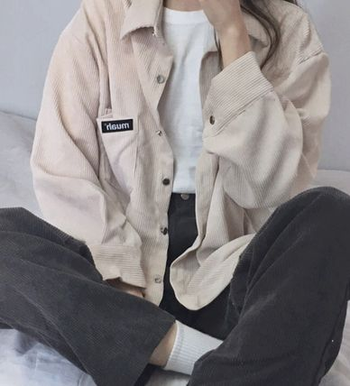 Street Style Long Sleeves Cotton Shirts & Blouses