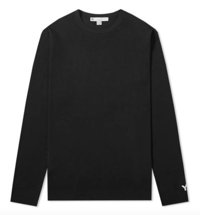 Unisex Street Style U-Neck Collaboration Long Sleeves Cotton