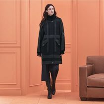 HERMES Other Plaid Patterns Casual Style Cashmere Long MA-1