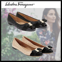 Salvatore Ferragamo Plain Leather Ballet Shoes