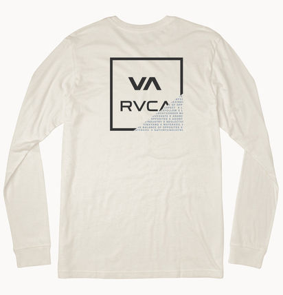 RVCA Long Sleeve Street Style U-Neck Long Sleeves Long Sleeve T-shirt