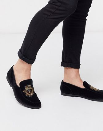 Loafers Suede Blended Fabrics U Tips Loafers & Slip-ons