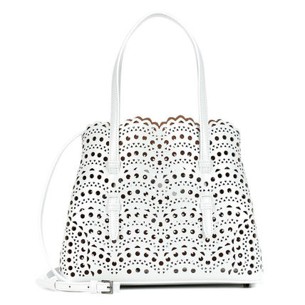 Casual Style Calfskin Street Style 2WAY Elegant Style Totes