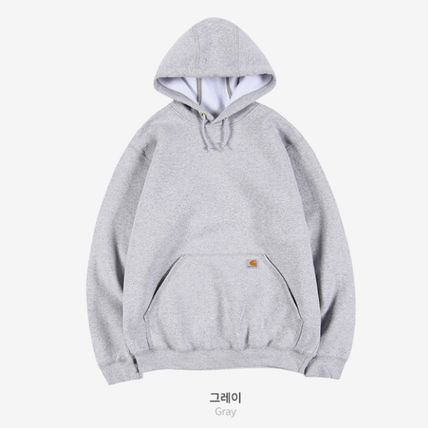 Carhartt Unisex Street Style Long Sleeves Plain Cotton Logo Hoodies
