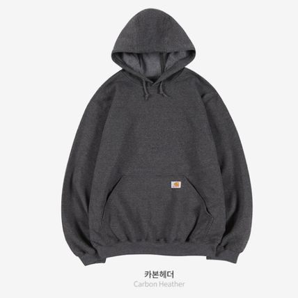 Carhartt Hoodies Unisex Street Style Long Sleeves Plain Cotton Logo Hoodies 5