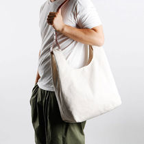 GREEN STUFF Totes Canvas Street Style A4 Plain Oversized Logo Totes 6